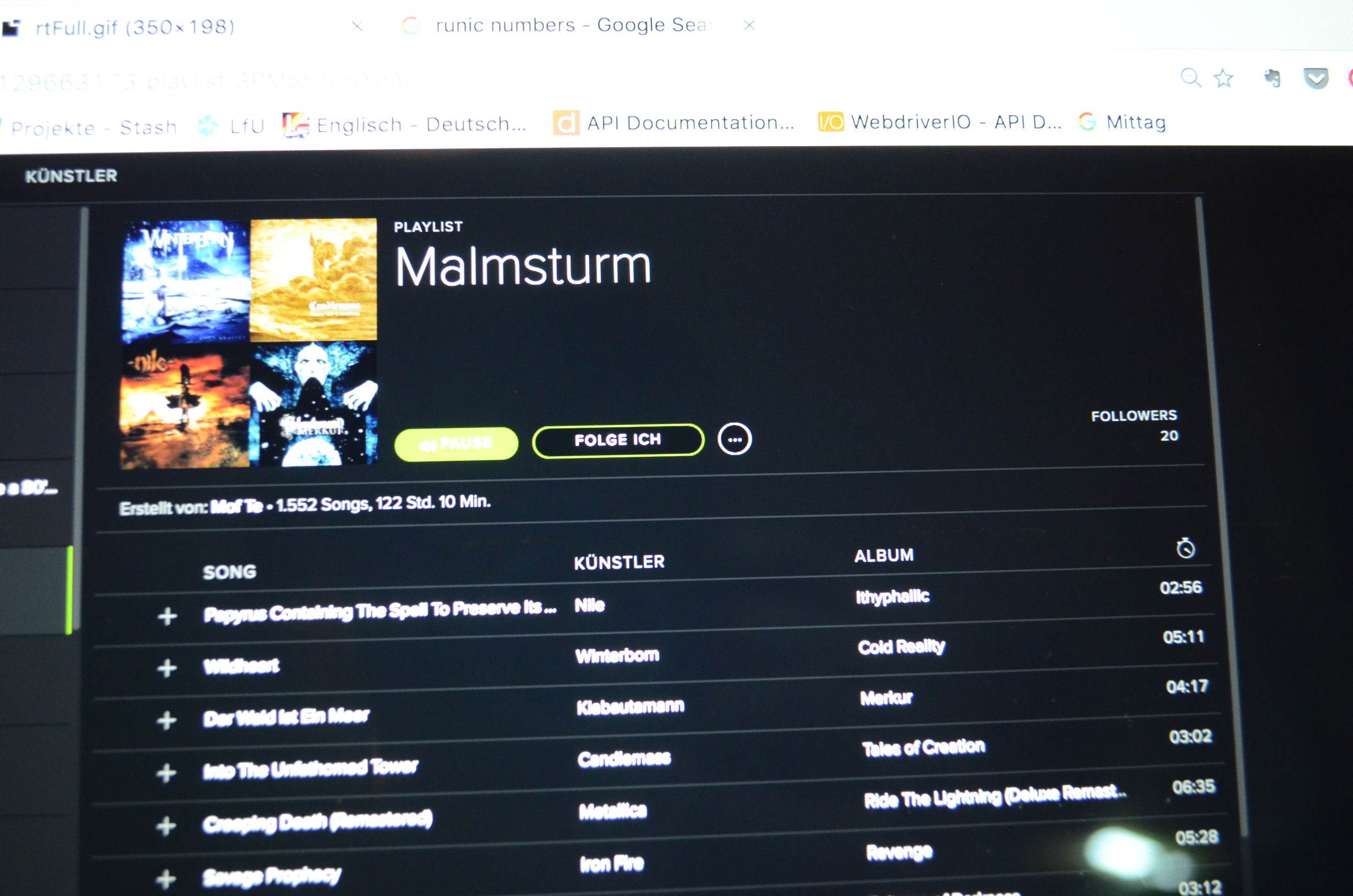 Malmsturm-Playlist